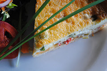 Quiche with Wild Rice Crust