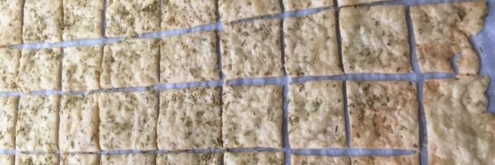 Sourdough Einkorn Crackers